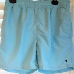 Polo Ralph Lauren Light Blue Swim Trunks